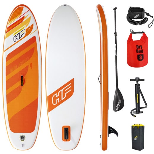 Tabla de surf inflable multiuso, naranja