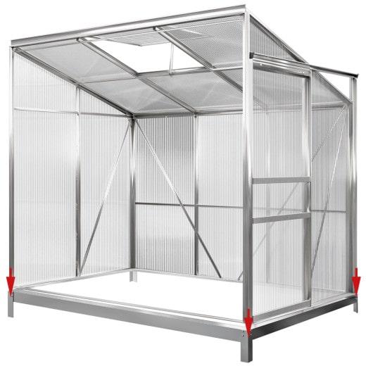 Invernadero de aluminio 192x127cm con cimientos