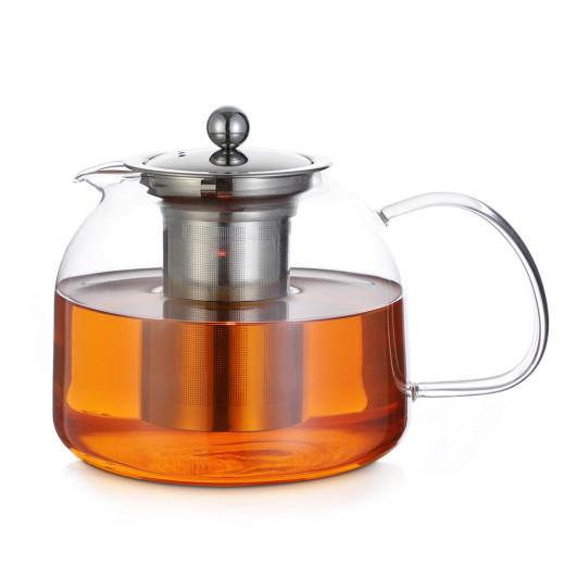 Teekanne aus Glas mit Siebeinsatz 1,5 L