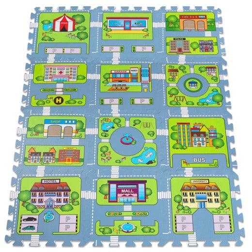 Puzzlematte 20tlg. in Straßenspiel-Optik