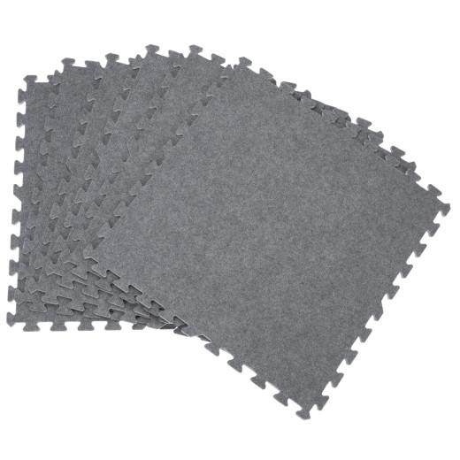 6tlg Puzzlematte in Grau 60x60x1cm