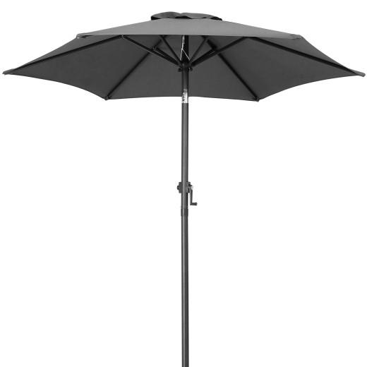 Sonnenschirm Fiji Anthrazit Ø200cm mit Kurbel