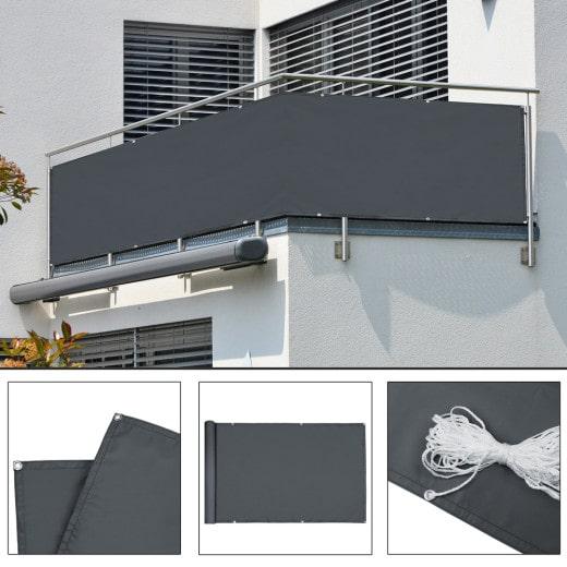 Pantalla para balcón 5m antracita