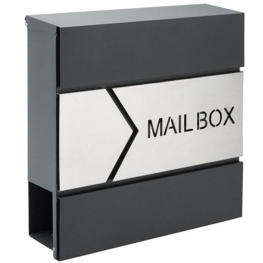 Designer Briefkasten Anthrazit/Silber