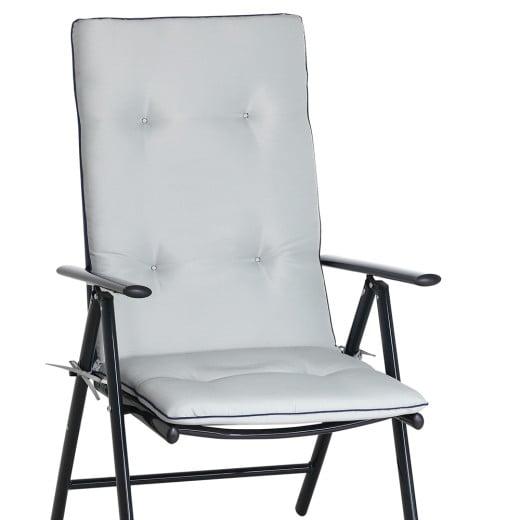Set de 6 Cojines de sillas Vanamo Gris claro 120x45x5cm