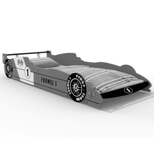 Kinderbett Formel 1 Rennbett Silber