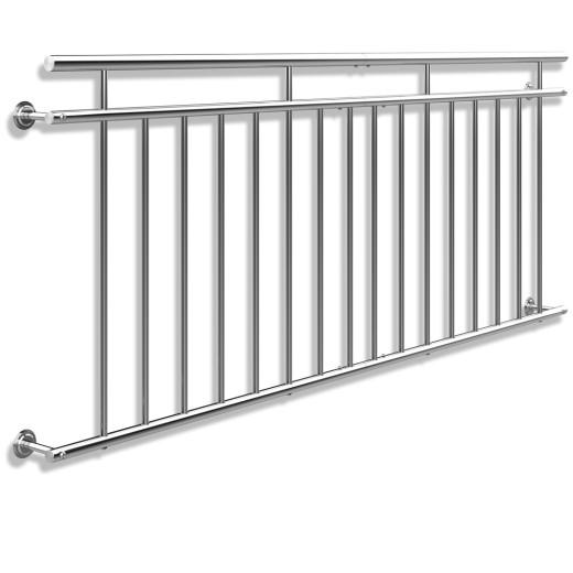 Barandilla de balcón estilo Francés acero 90x225cm