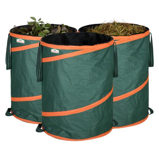 Set de 3 Sacos de basura de jardín 165L