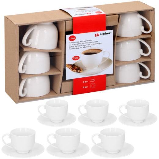 ALPINA Espressotassen 12er-Set Weiß
