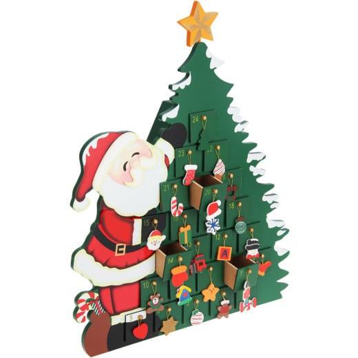 Adventskalender Weihnachtsmann mit Schubladen zum Selbstbefüllen
