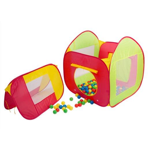 Kinderzelt Bällebad inkl. 200 Bälle Bunt