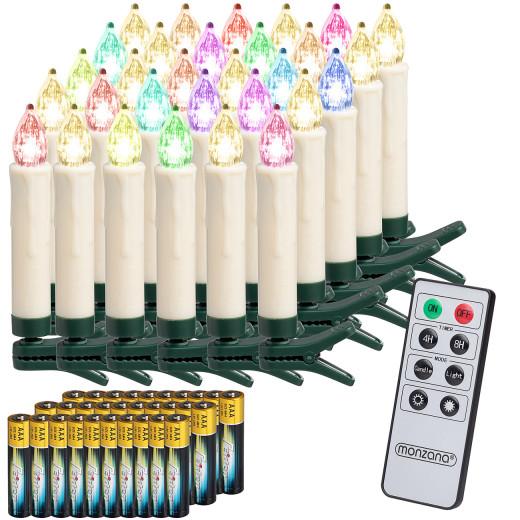 Set de 30 velas LED para árbol de navidad Multicolor