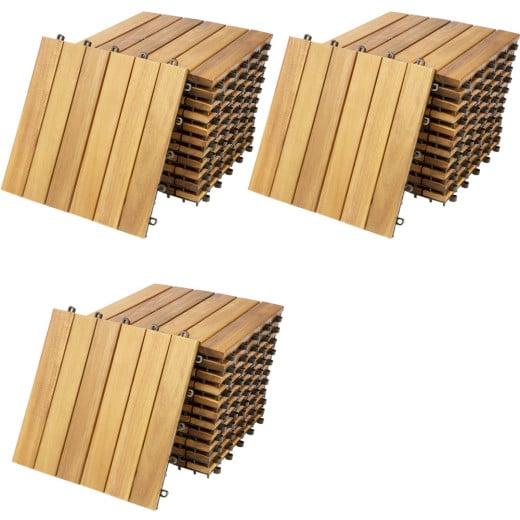 "Baldosas ""Mosaico"", x33, madera de acacia, 30x30cm."