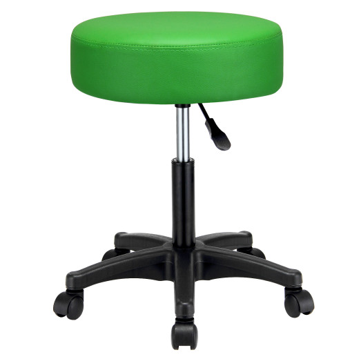 Rollhocker aus Kunstleder in Grün 360° drehbar