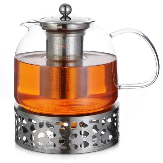 Teekanne Glas inkl. Stövchen 1,5L