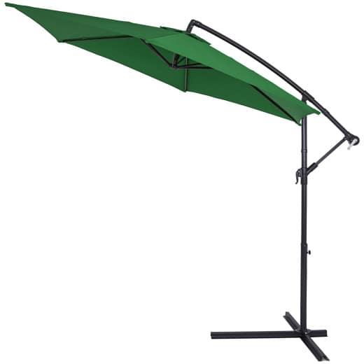 Sombrilla inclinable con Manivela Ø330cm Verde