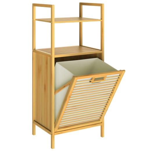 Bambus-Wäschekorb 43L