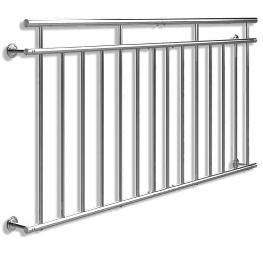 Barandilla de balcón estilo Francés acero 90x184cm