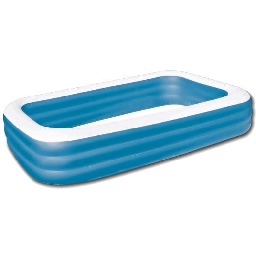 Piscina hinchable, rectangular, azul 305x183x56cm.