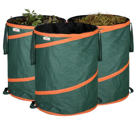 Saco para desechos de jardín, x3, verde, 30Kg.