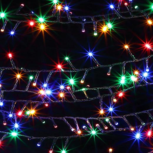 Lichterkette 14m mit 700 LEDs für innen und außen Bunt