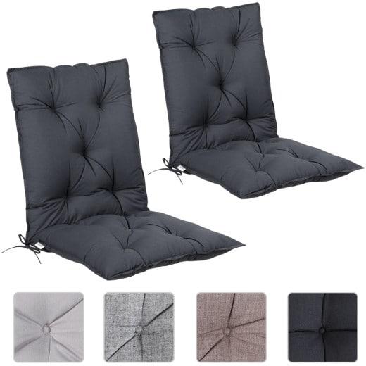 Set de 2 cojines de sillas con respaldo 116x57x7cm