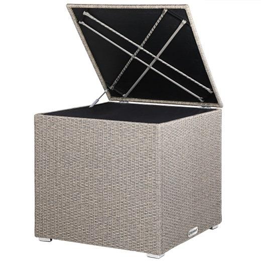 Polyrattan Auflagenbox Creme 75x75x70cm