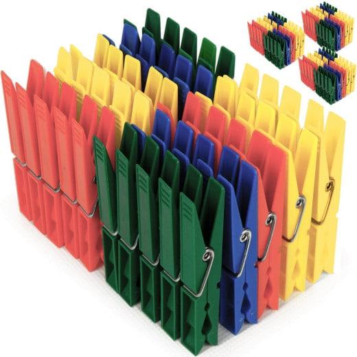Wäscheklammern 200er-Set Bunt Kunststoff