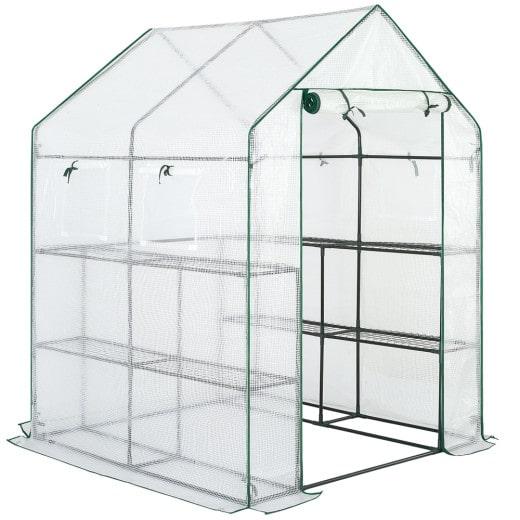 Invernadero con lona, 2.23m², 190x186x120cm.