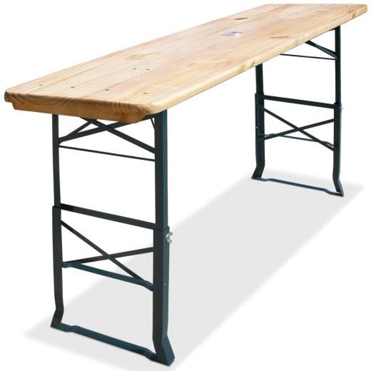 Höhenverstellbarer Bierzelttisch aus Holz