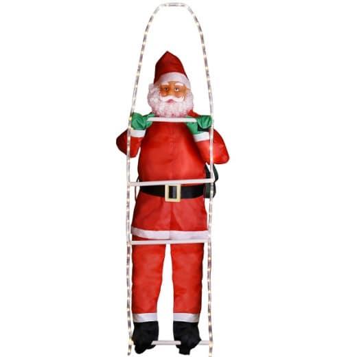 Weihnachtsmann auf Leiter mit 120 LEDs