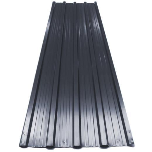 Chapas perfiladas, x12, gris, 7m², 129x45cm.