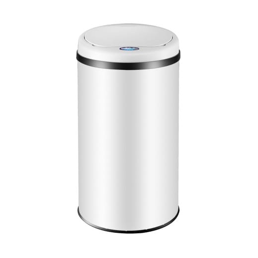 Sensor Mülleimer Edelstahl Weiß 30 Liter