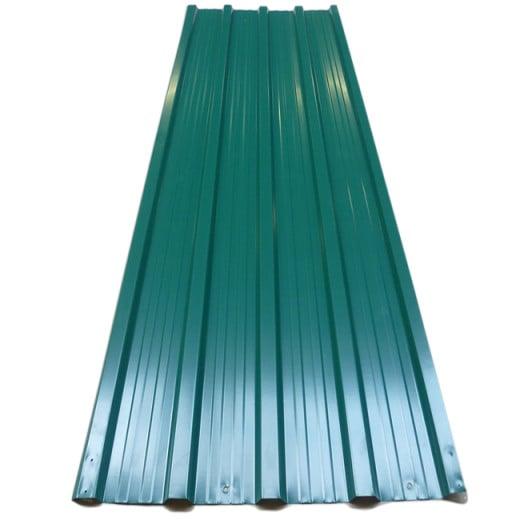 Set de 12 Chapas perfiladas verde 129x45cm