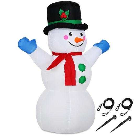 Aufblasbarer Schneemann XL beleuchtet 120cm