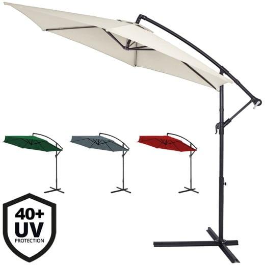 Sombrilla de aluminio Ø300cm protección UV50+