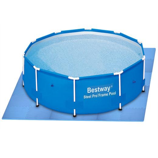 "Esterilla de protección ""Rompecabezas"", azul, 180x90cm."