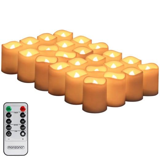 LED Kerzen 24er-Set Warmweiß inkl. Fernbedienung