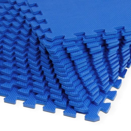 Alfombras Puzzle protección de suelo Azul 32Pzs 6.48m²