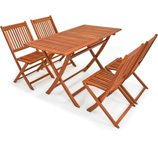 5-teilige Sitzgruppe Sydney light aus Akazienholz (FSC®-zertifiziert)